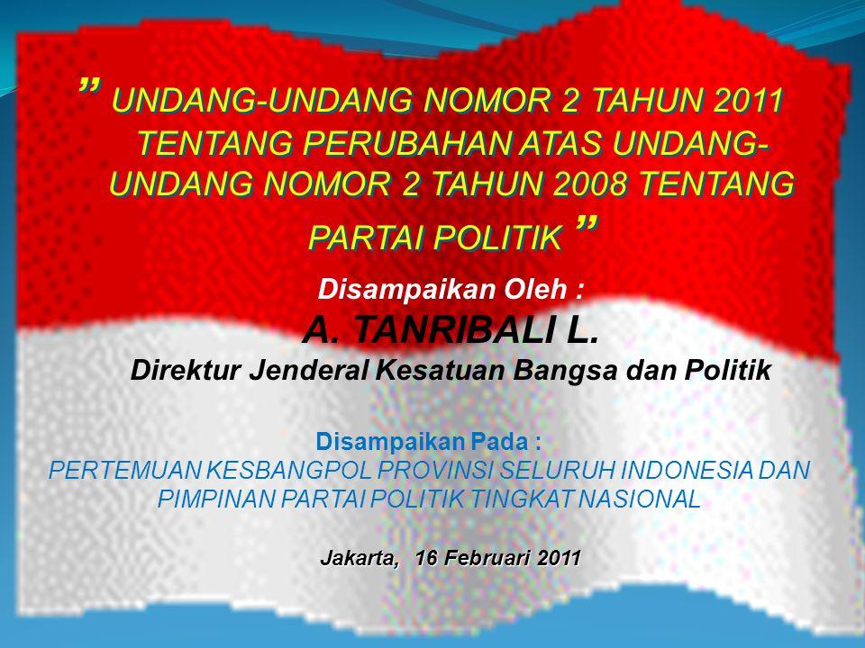 Direktur Jenderal Kesatuan Bangsa dan Politik