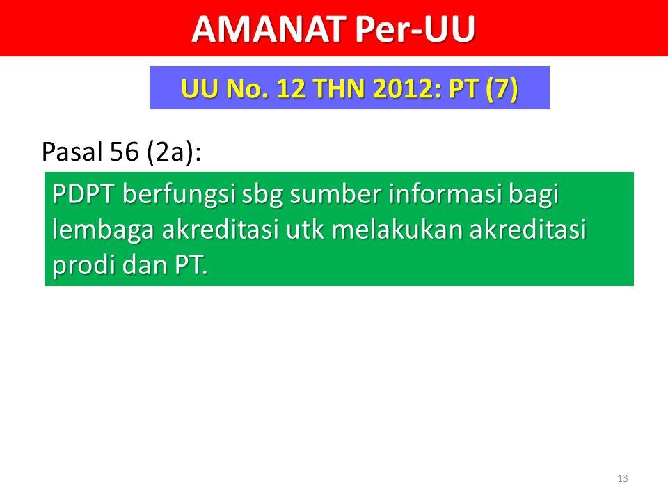 AMANAT Per-UU UU No. 12 THN 2012: PT (7) Pasal 56 (2a):