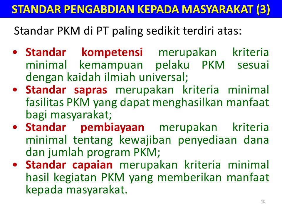 STANDAR PENGABDIAN KEPADA MASYARAKAT (3)