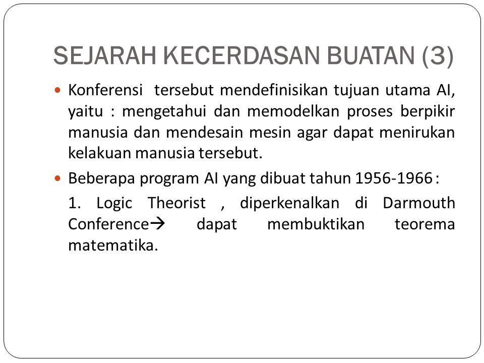 SEJARAH KECERDASAN BUATAN (3)