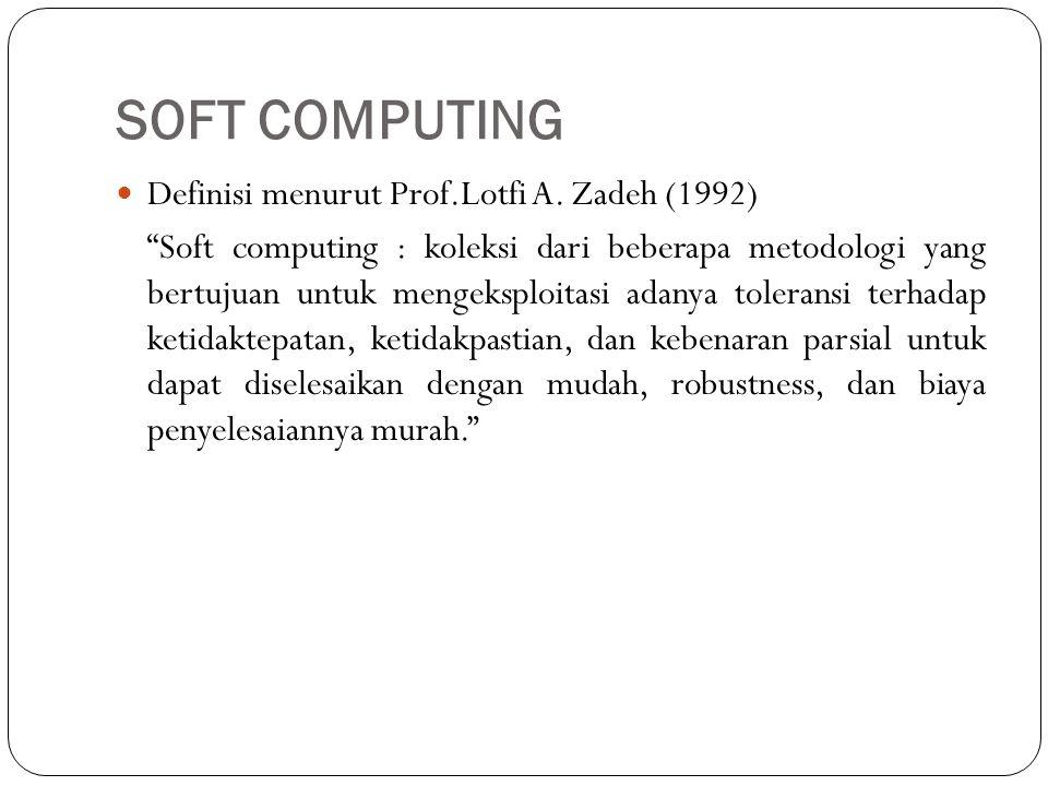 SOFT COMPUTING Definisi menurut Prof.Lotfi A. Zadeh (1992)