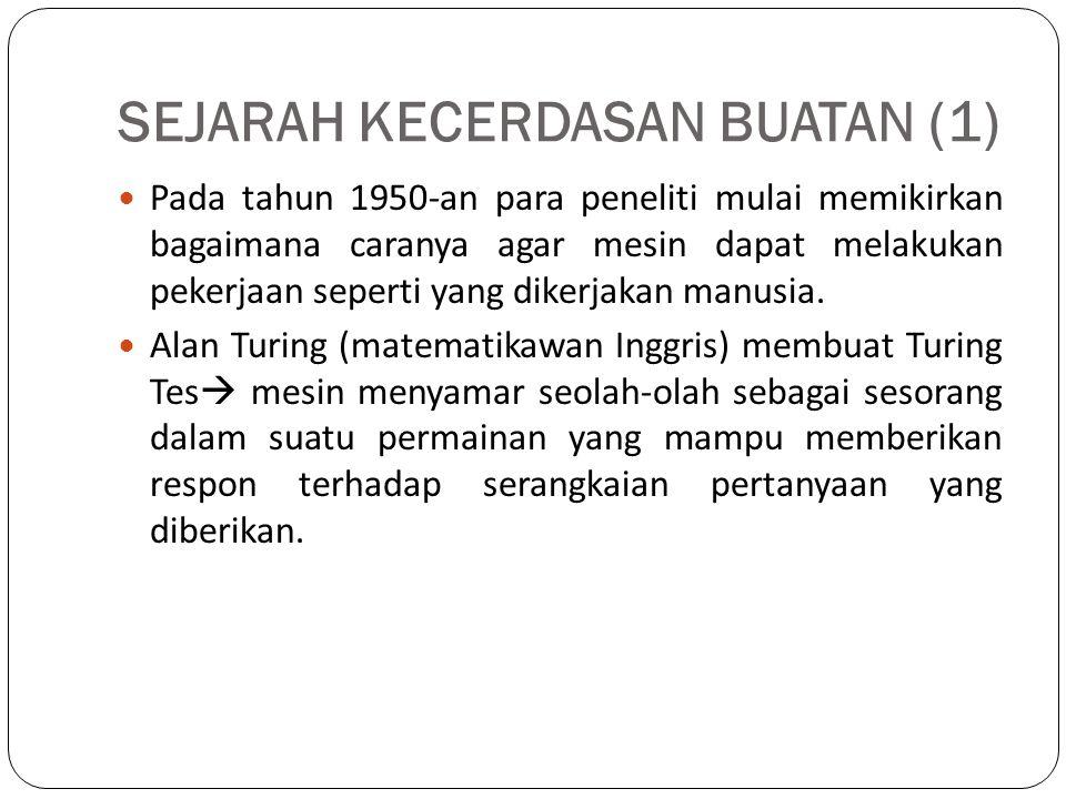 SEJARAH KECERDASAN BUATAN (1)