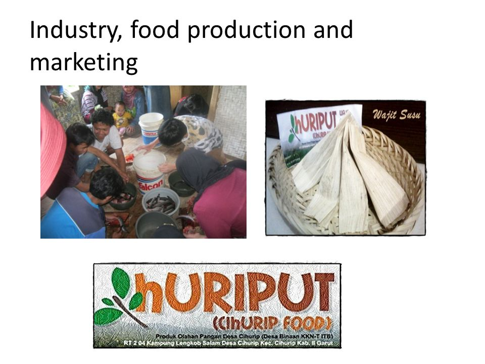 Industry, food production and marketing
