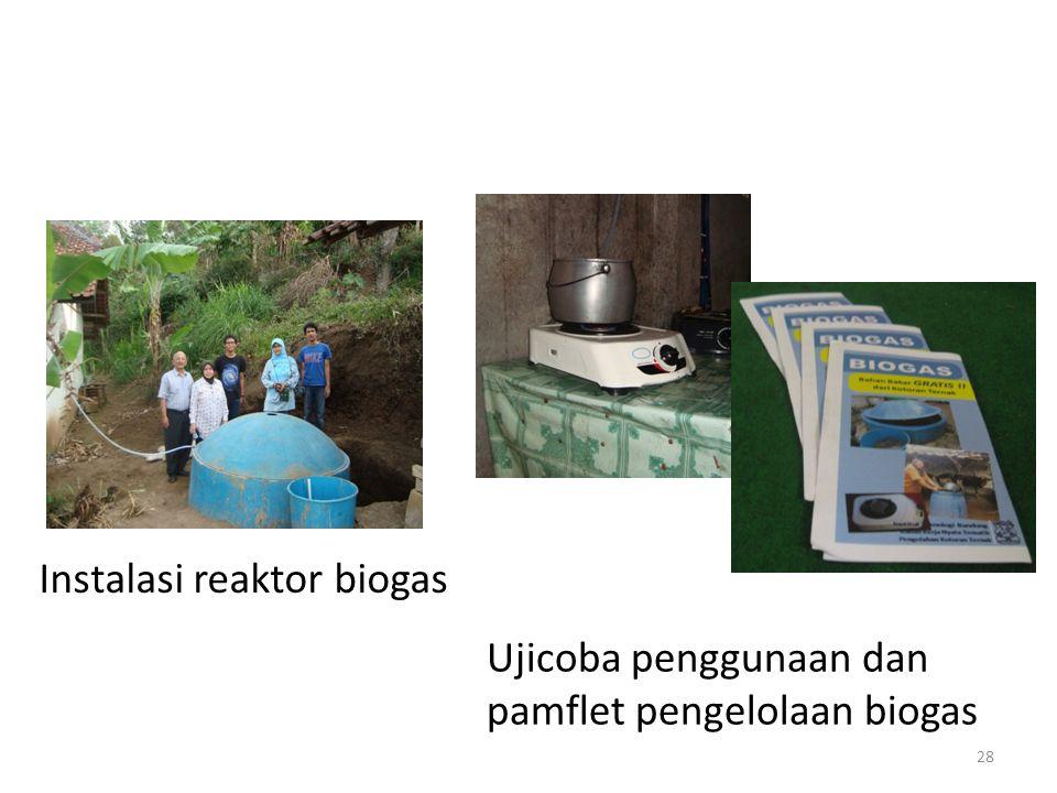 Instalasi reaktor biogas