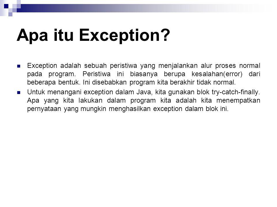 Apa itu Exception