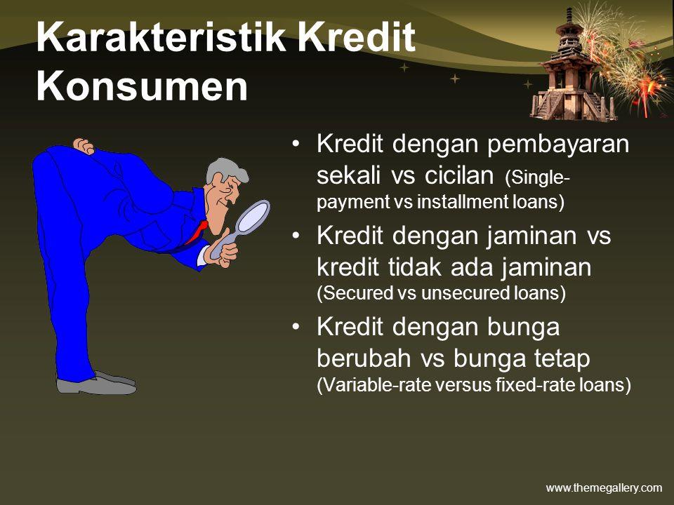Karakteristik Kredit Konsumen