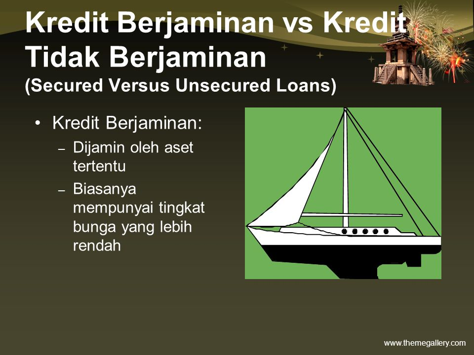 Kredit Berjaminan vs Kredit Tidak Berjaminan (Secured Versus Unsecured Loans)