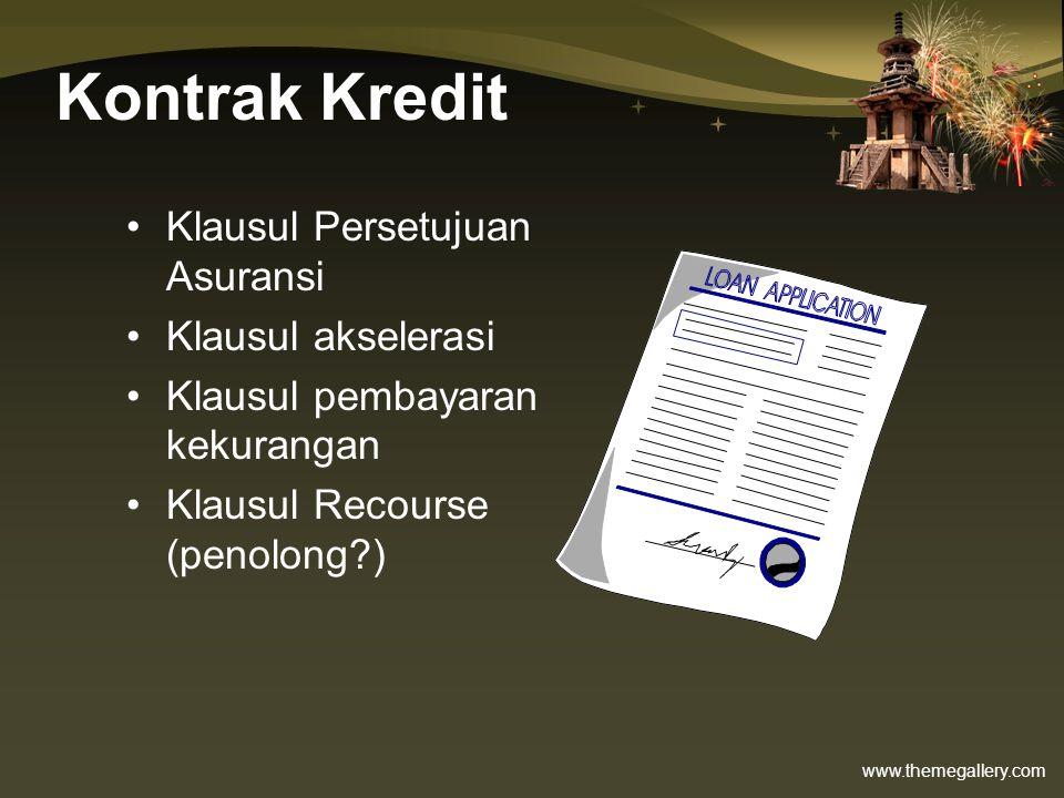 Kontrak Kredit Klausul Persetujuan Asuransi Klausul akselerasi