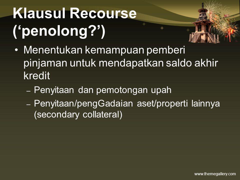 Klausul Recourse ('penolong ')