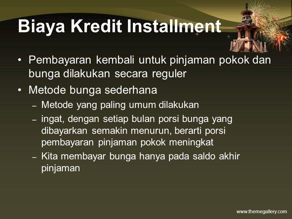 Biaya Kredit Installment
