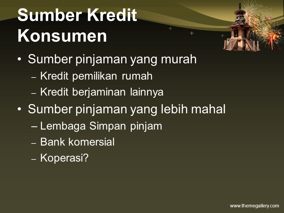 Sumber Kredit Konsumen