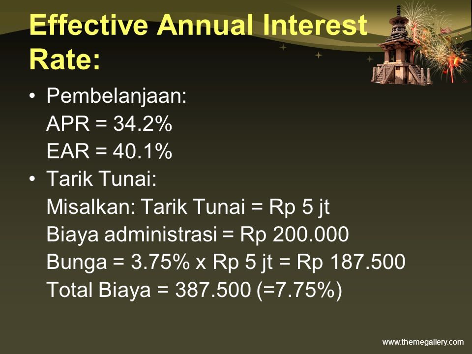 Effective Annual Interest Rate: