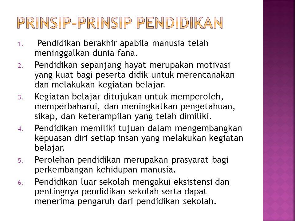 prinsip-prinsip pendidikan
