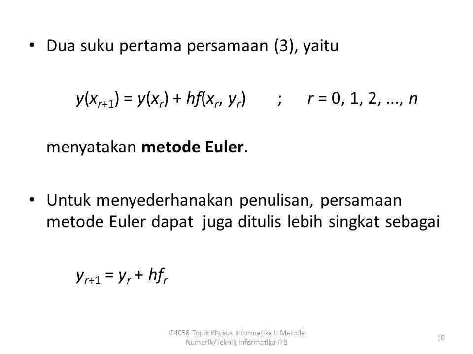 Dua suku pertama persamaan (3), yaitu