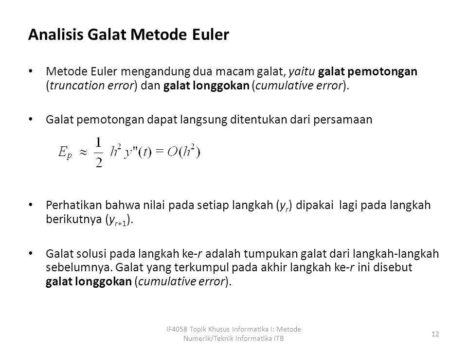 Analisis Galat Metode Euler