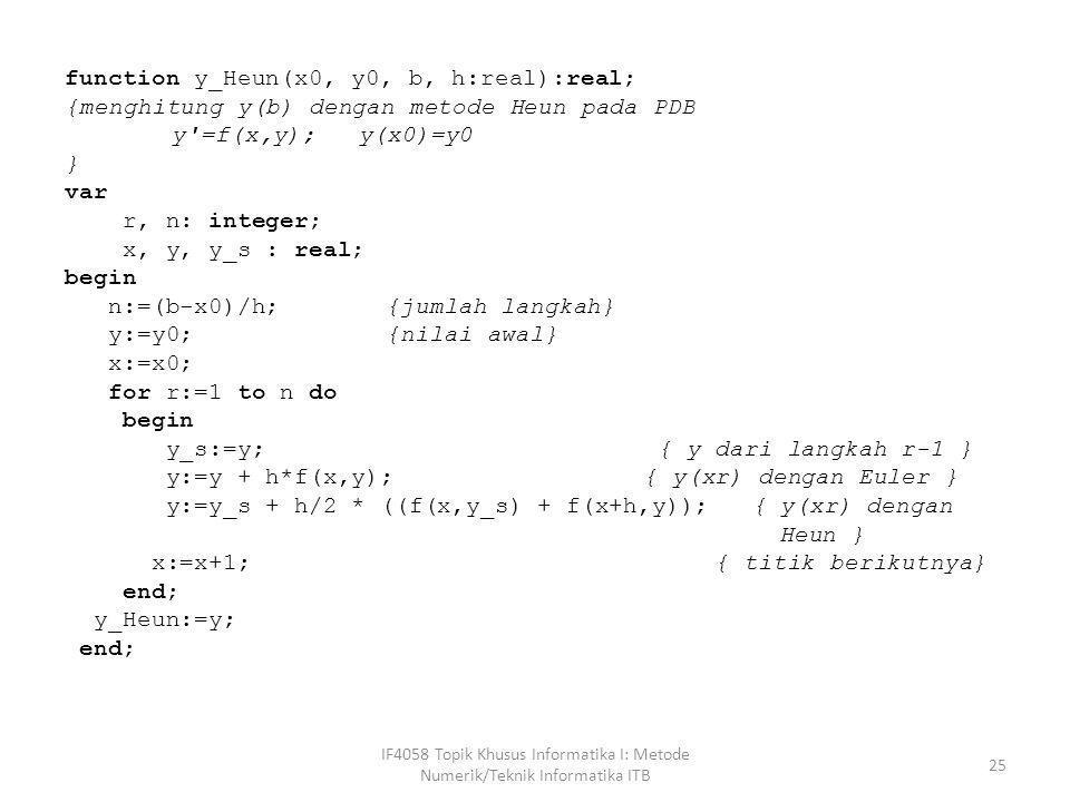 function y_Heun(x0, y0, b, h:real):real;