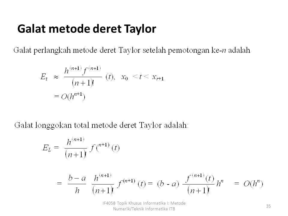 Galat metode deret Taylor