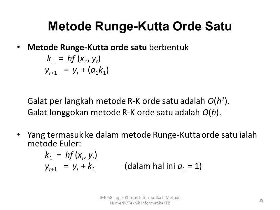 Metode Runge-Kutta Orde Satu