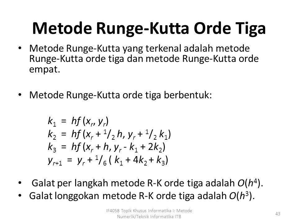 Metode Runge-Kutta Orde Tiga