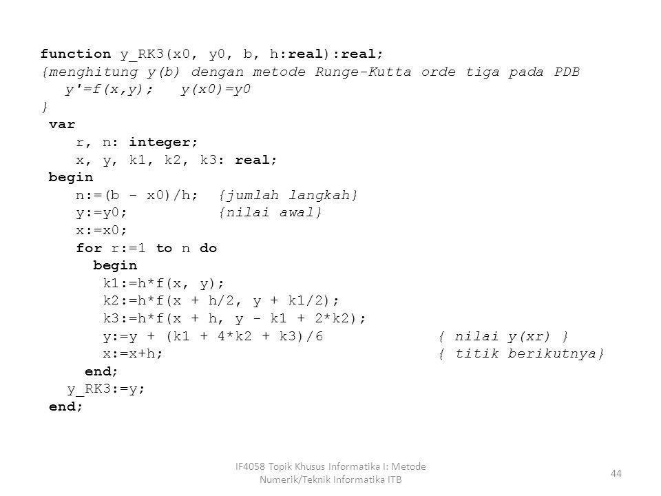 function y_RK3(x0, y0, b, h:real):real;