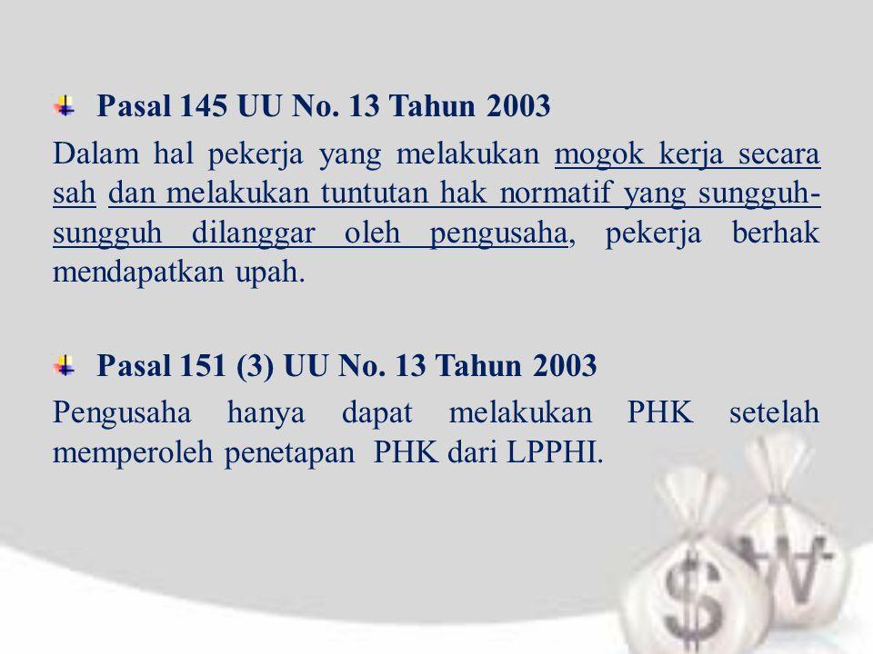 Pasal 145 UU No. 13 Tahun 2003