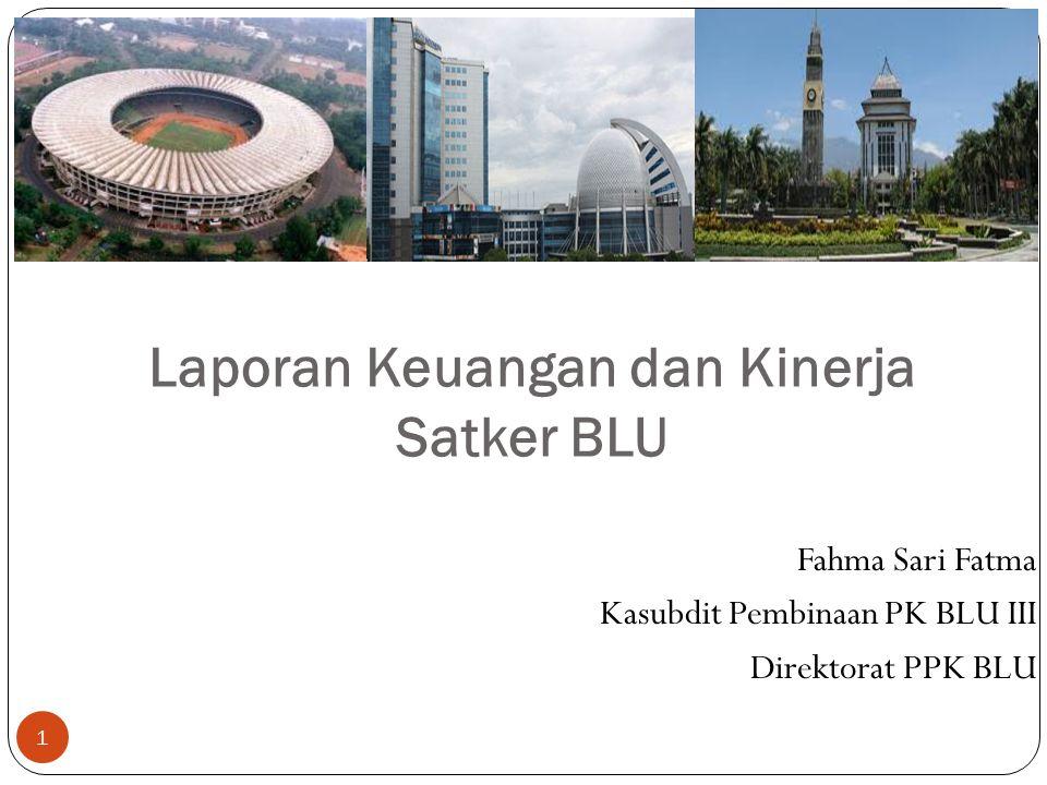 Laporan Keuangan dan Kinerja Satker BLU