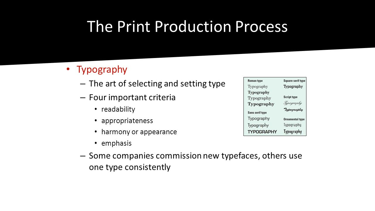 The Print Production Process