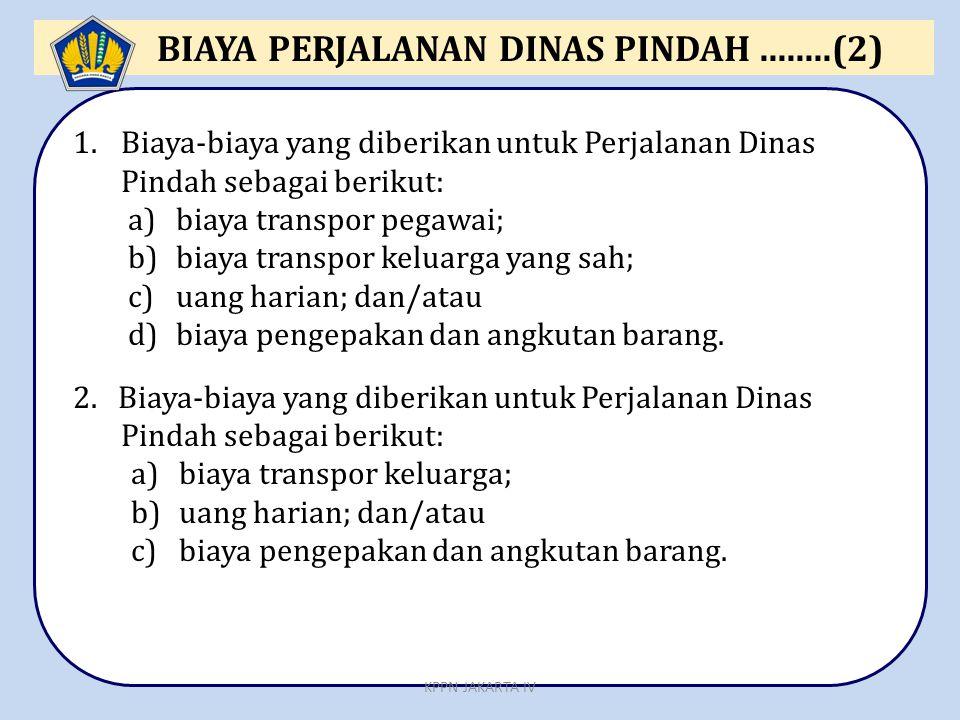 BIAYA PERJALANAN DINAS PINDAH ........(2)