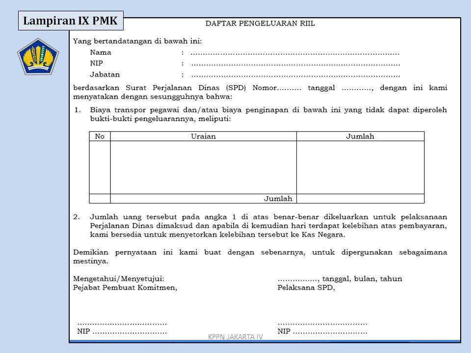 Lampiran IX PMK KPPN JAKARTA IV