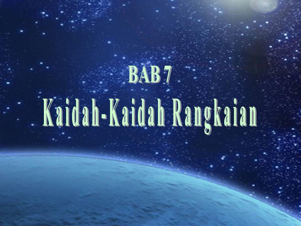 Kaidah-Kaidah Rangkaian