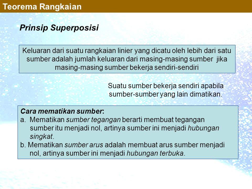 Teorema Rangkaian Prinsip Superposisi