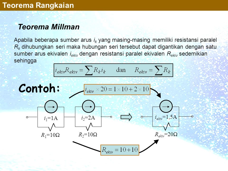 Contoh: Teorema Rangkaian Teorema Millman