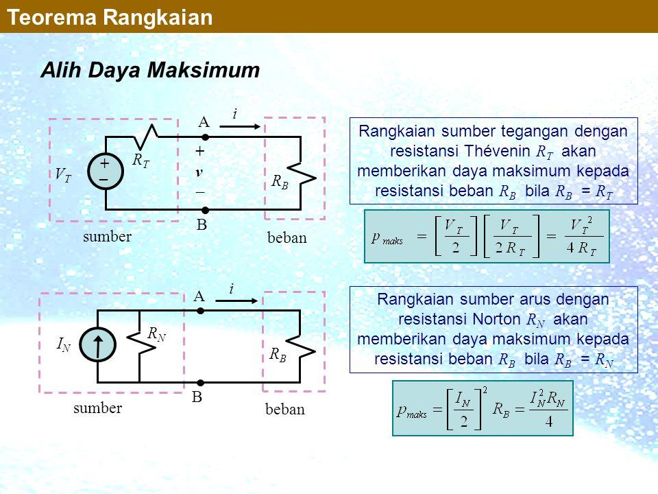 Teorema Rangkaian Alih Daya Maksimum i A