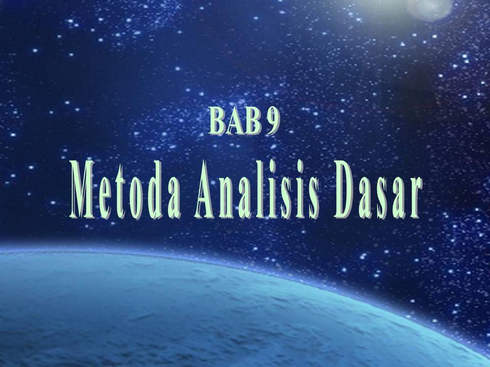BAB 9 Metoda Analisis Dasar