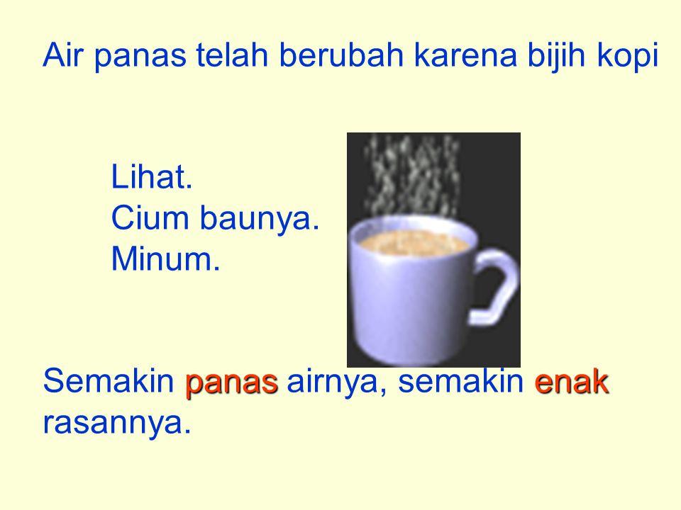 Air panas telah berubah karena bijih kopi