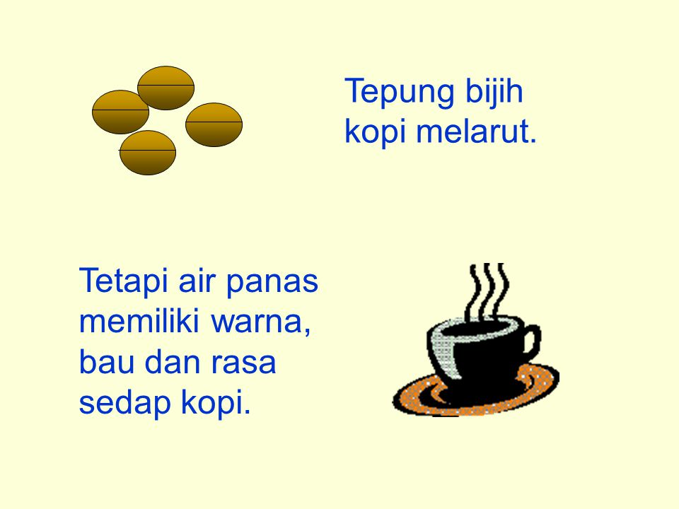 Tepung bijih kopi melarut.