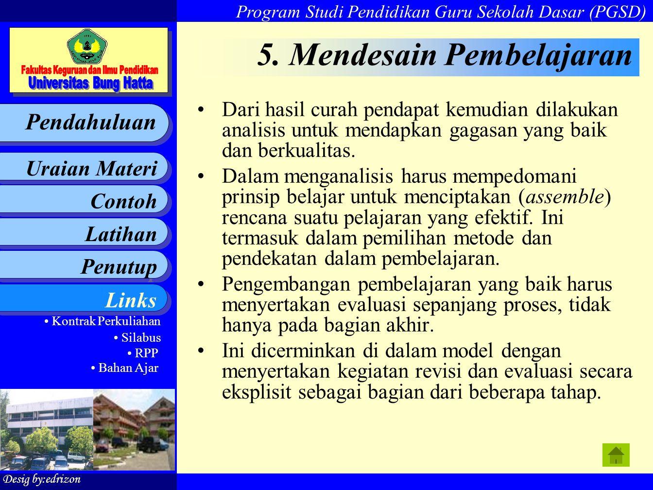 5. Mendesain Pembelajaran