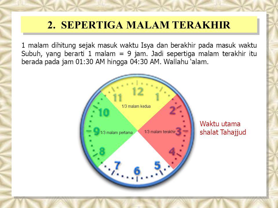 2. SEPERTIGA MALAM TERAKHIR
