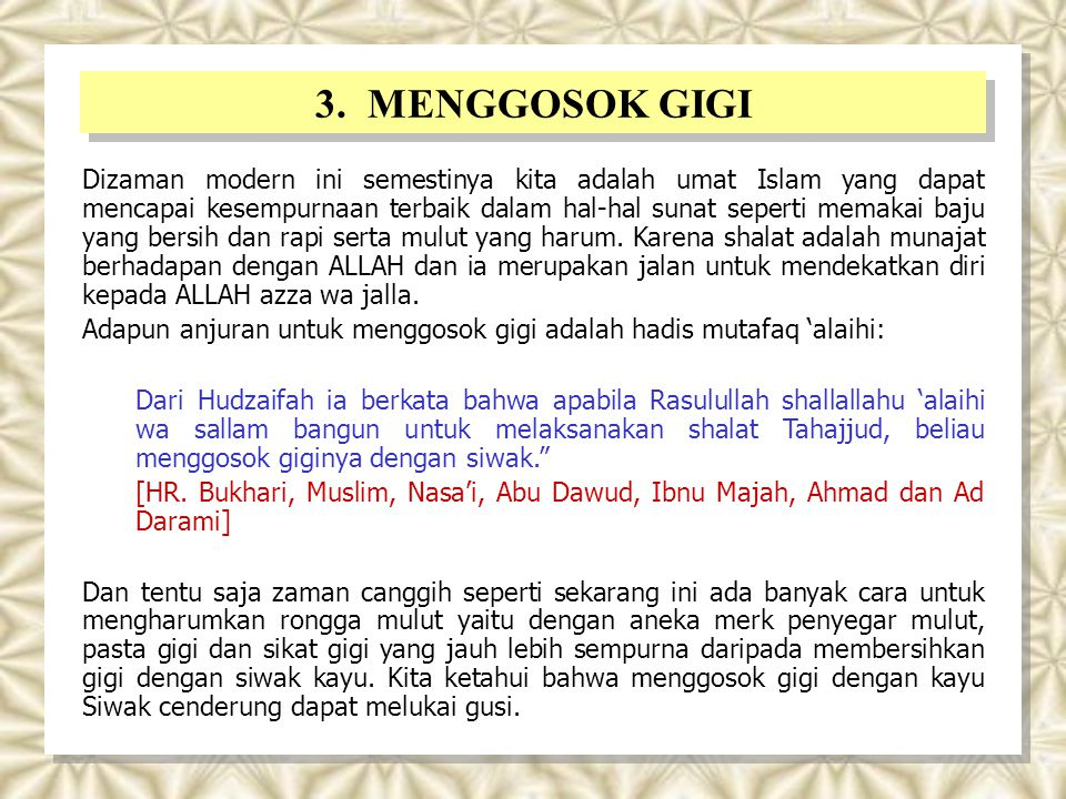 3. MENGGOSOK GIGI