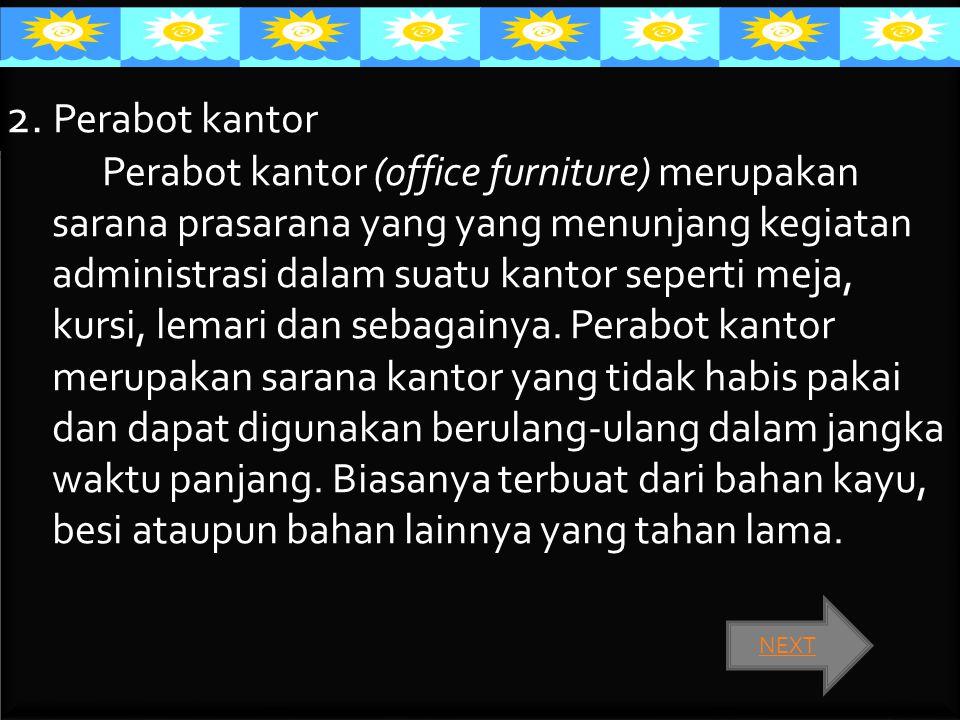 2. Perabot kantor