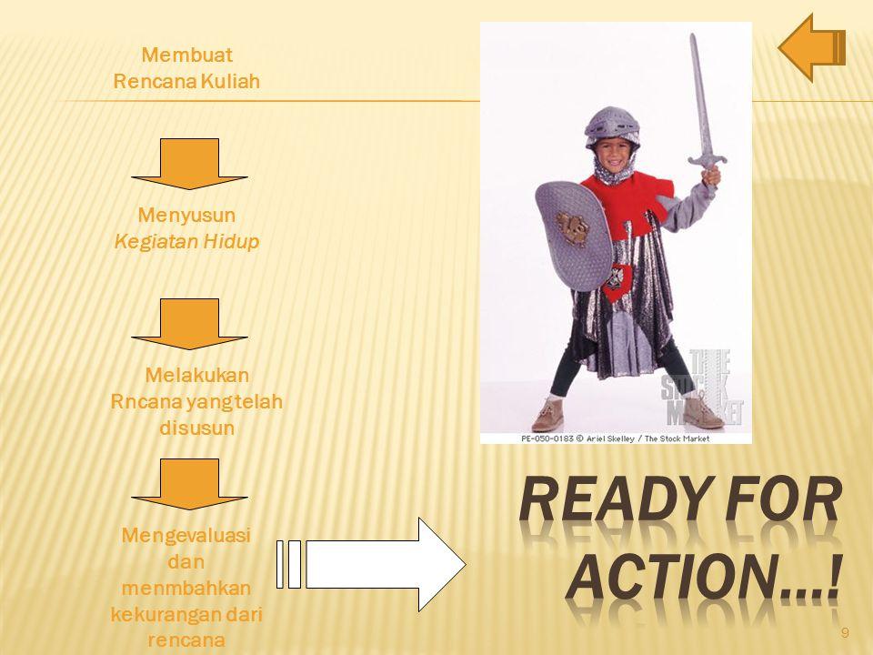 Ready for Action…! Membuat Rencana Kuliah Menyusun Kegiatan Hidup