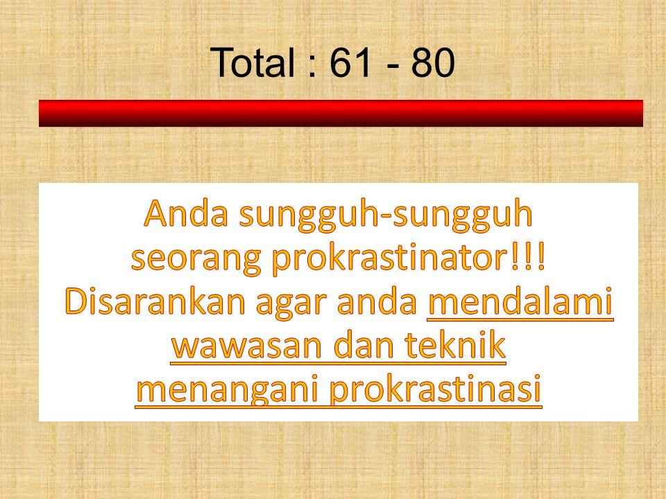 seorang prokrastinator!!!