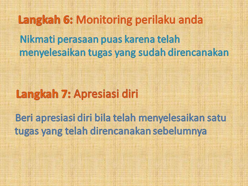 Langkah 6: Monitoring perilaku anda