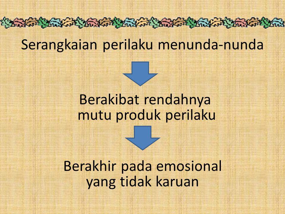 Serangkaian perilaku menunda-nunda