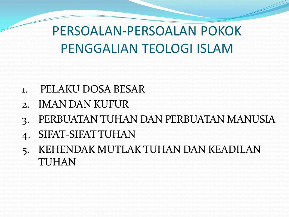 PERSOALAN-PERSOALAN POKOK PENGGALIAN TEOLOGI ISLAM