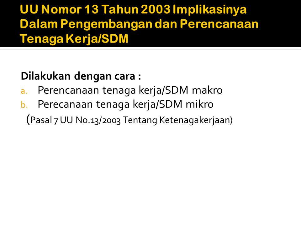 (Pasal 7 UU No.13/2003 Tentang Ketenagakerjaan)