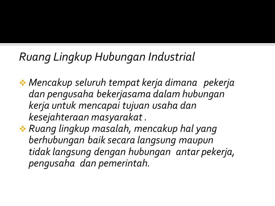 Ruang Lingkup Hubungan Industrial