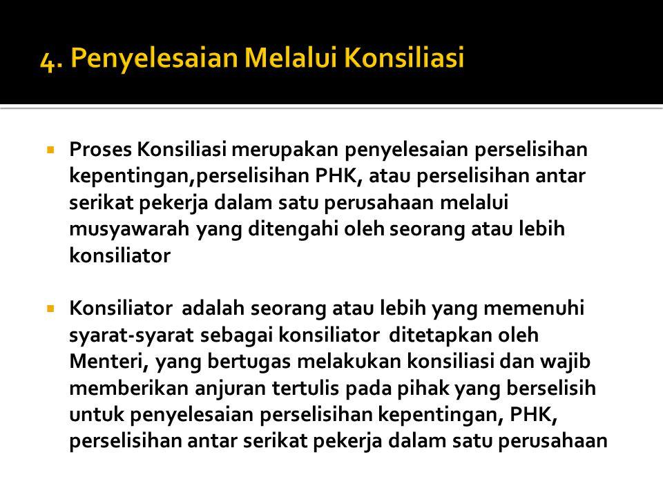 4. Penyelesaian Melalui Konsiliasi