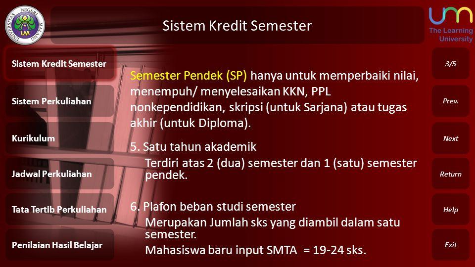 Sistem Kredit Semester