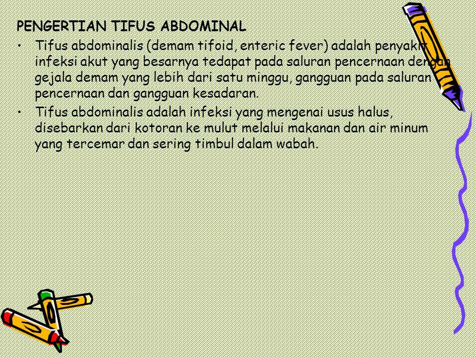 PENGERTIAN TIFUS ABDOMINAL